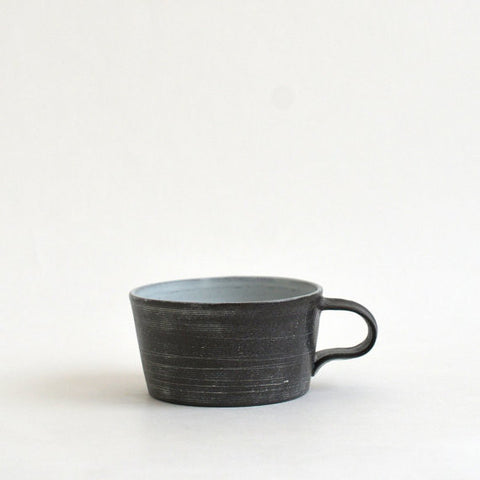Black and White Stripe Porcelain Mug