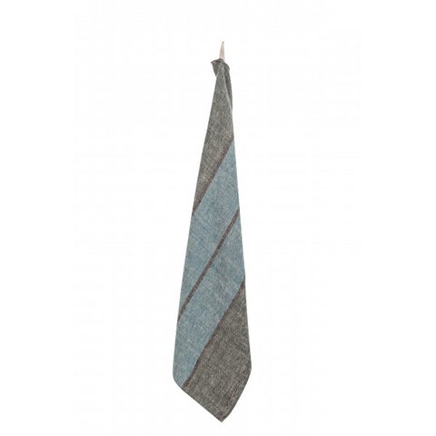Stone Washed Linen Dish Towel / Blue-Forest