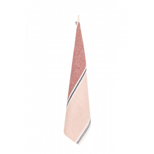 Stone Washed Linen Dish Towel / Blush