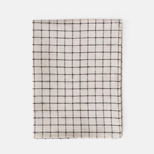 Linen Thick Dish Towel Natural Check