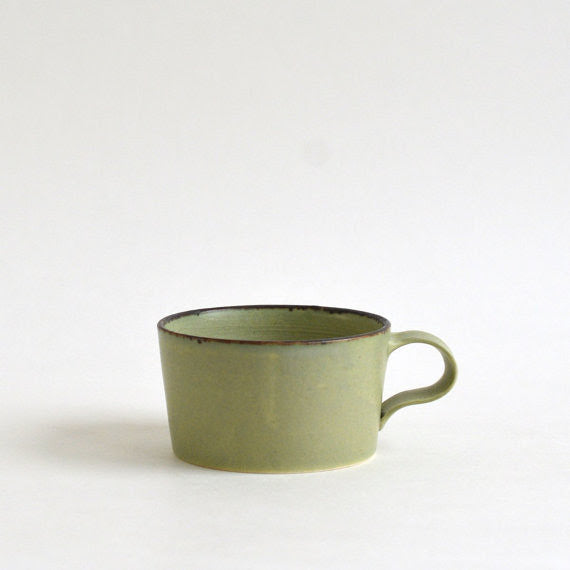 Wormwood Green Porcelain Mug