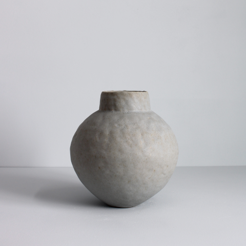 Grey Sphere Collar Vessel