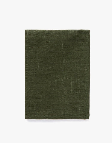 Linen Thick Dish Towel Green