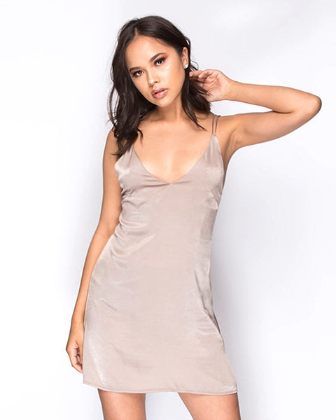 Elvira Cami Dress - Taupe