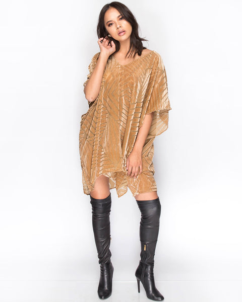 Burn Out Poncho Dress