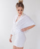 B.A.R.E. Cowl Neck Dress - White