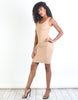 Lovers Suede Pencil Dress-Taupe