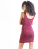 Lovers Suede Pencil Dress-Wine