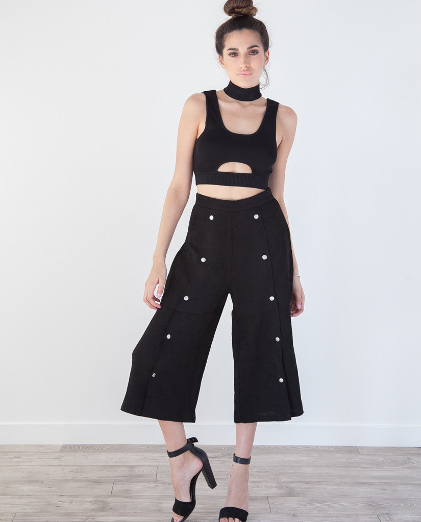 Button Me Up Cropped Pants