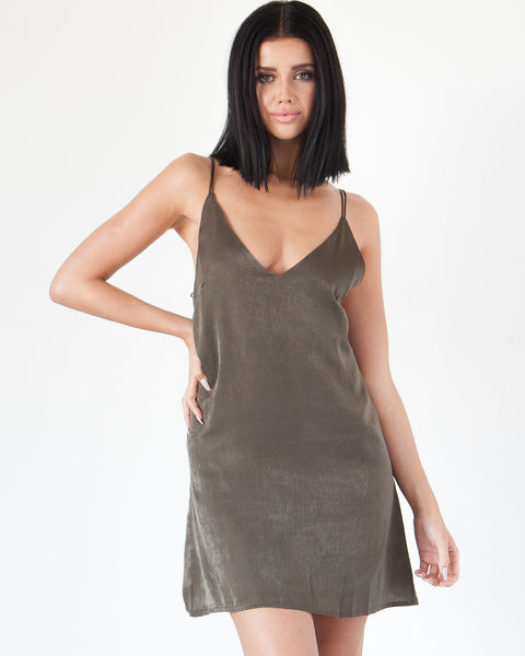 Elvira Cami Dress - Olive