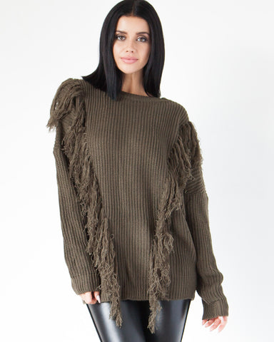 Shaggy Sweater - Olive