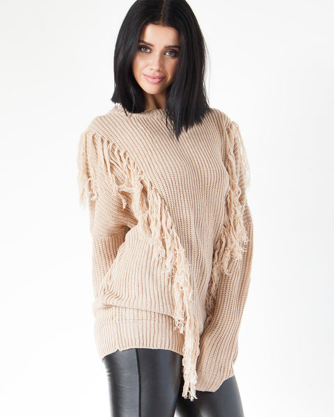 Shaggy Sweater - Camel