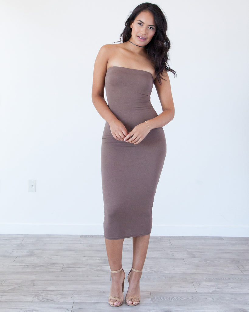 Rock That Body Dress -Toffee