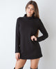 B.A.R.E. Turtleneck Mini - Black