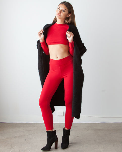 B.A.R.E. Champ Red Leggings