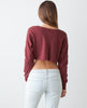 Signature Sweater Crop-Burgundy