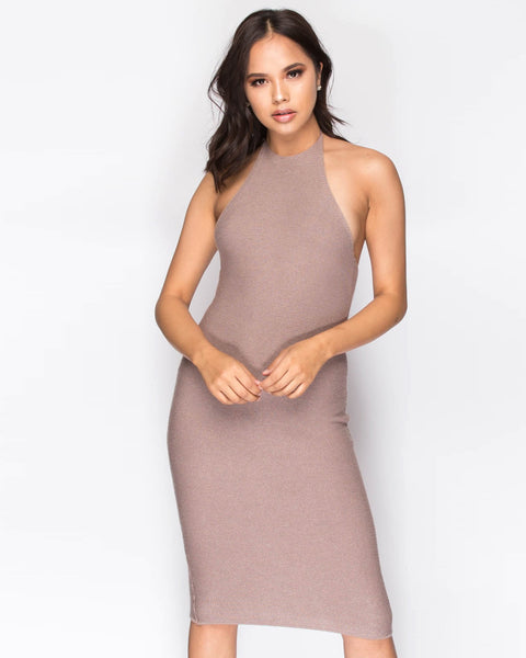Knit Sweater Dress - Mauve