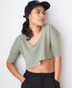B.A.R.E. Calm Crop - Olive Green