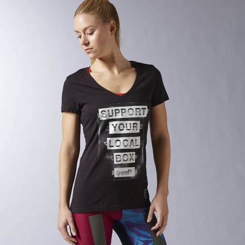 Reebok CrossFit Support Your Local Box Tee