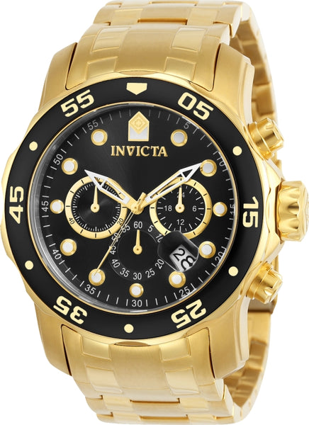Invicta Men's 0072 Pro Diver Quartz Chronograph Black Dial Watch