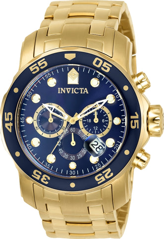 Invicta Men's 0073 Pro Diver Quartz Chronograph Blue Dial Watch