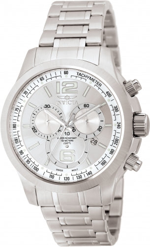 Invicta Men's 0078 Specialty Quartz Chronograph Silver Dial Watch