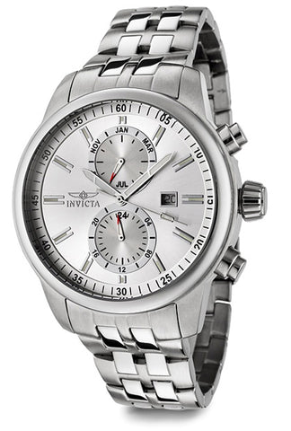 Invicta Men's 0248 Specialty Quartz Chronograph Silver Dial Watch