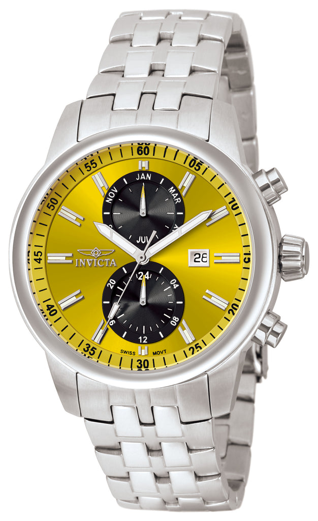 Invicta Men's 0249 Specialty Quartz Chronograph Yellow Dial Watch
