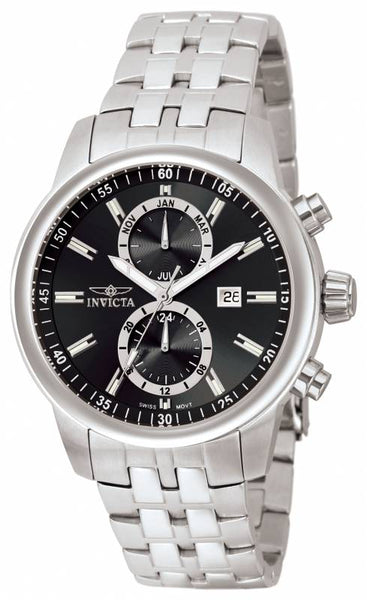 Invicta Men's 0250 Specialty Quartz Chronograph Black Dial Watch