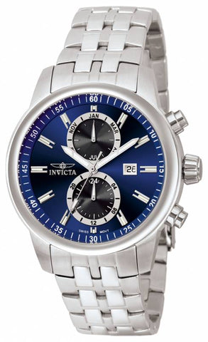 Invicta Men's 0251 Specialty Quartz Chronograph Blue Dial Watch