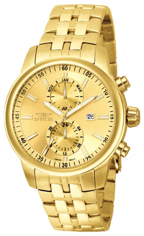 Invicta Men's 0253 Specialty Quartz Chronograph Champagne Dial Watch