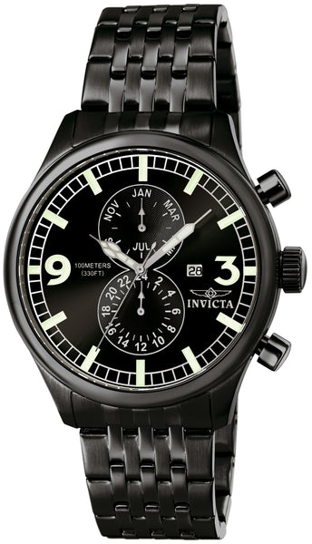 Invicta Men's 0367 Specialty Quartz Multifunction Black Dial Watch