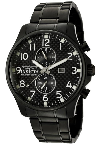 Invicta Men's 0383 Specialty Quartz Chronograph Black Dial Watch