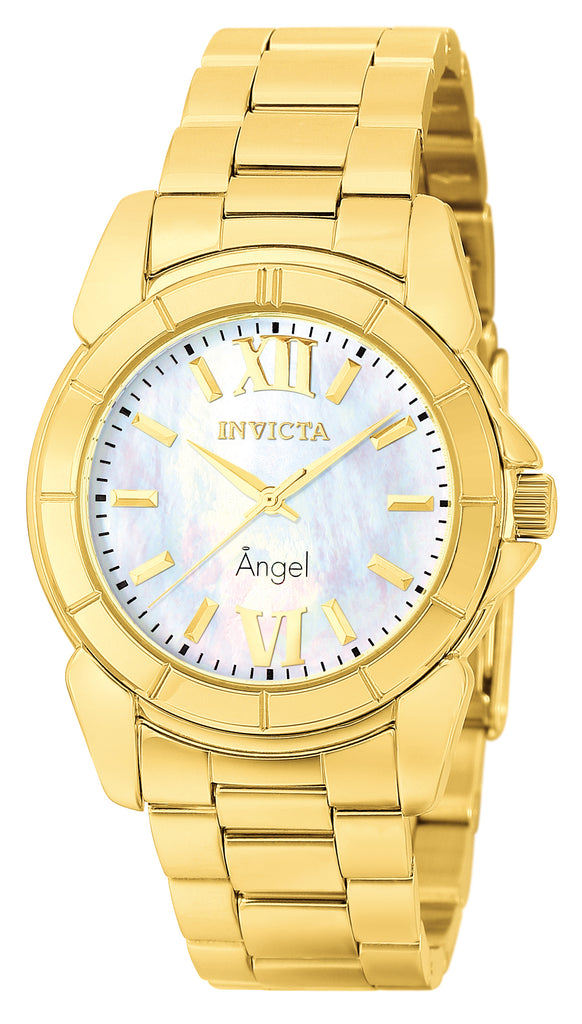 Invicta Women's 0460 Angel Quartz 3 Hand White Dial Watch