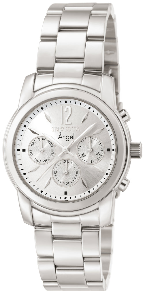 Invicta Women's 0461 Angel Quartz Chronograph Silver Dial Watch