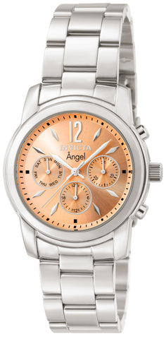 Invicta Women's 0462 Angel Quartz Chronograph Rose Gold Dial Watch