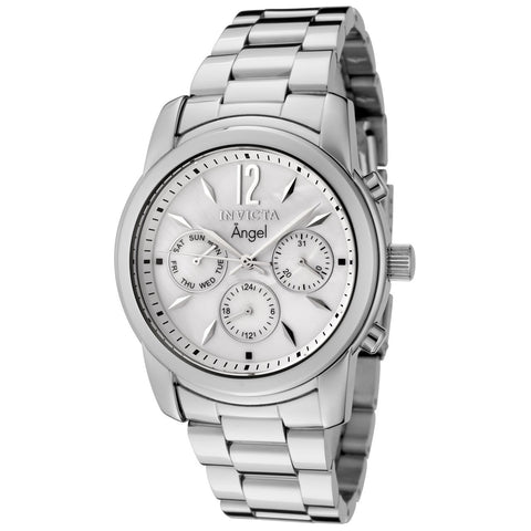 Invicta Women's 0463 Angel Quartz Chronograph White Dial Watch
