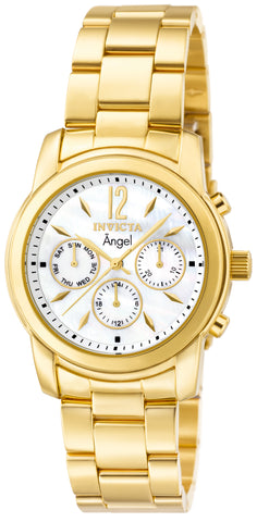 Invicta Women's 0465 Angel Quartz Chronograph White Dial Watch