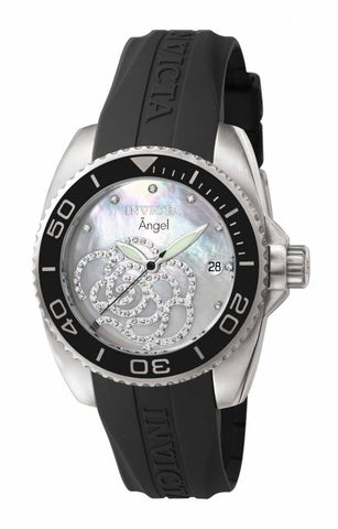 Invicta Women's 0487 Angel Quartz 3 Hand Platinum Dial Watch