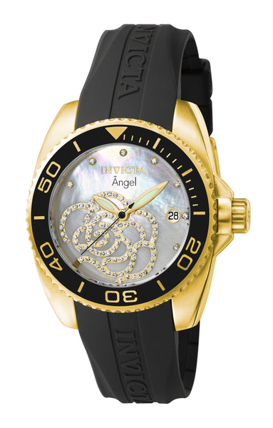 Invicta Women's 0489 Angel Quartz 3 Hand Platinum Dial Watch