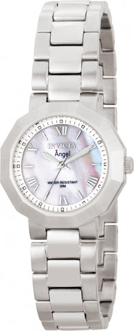 Invicta Women's 0542 Angel Quartz 3 Hand White Dial Watch