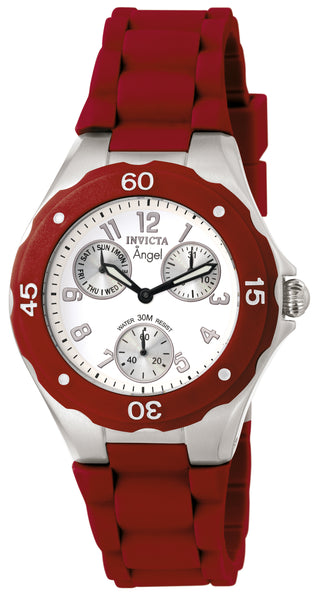 Invicta Women's 0701 Angel Quartz Multifunction White Dial Watch