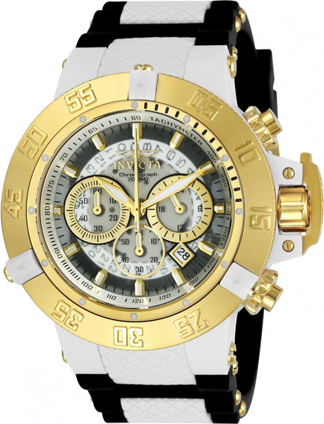 Invicta Men's 0928 Subaqua Quartz Chronograph White Dial Watch