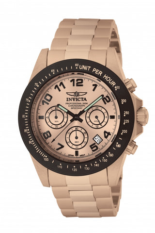 Invicta Men's 10705 Speedway Quartz Chronograph Rose Gold Dial Watch