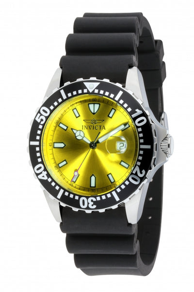 Invicta Men's 10918 Pro Diver Quartz 3 Hand Yellow Dial Watch