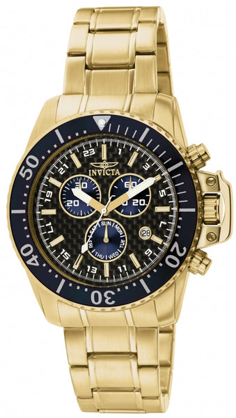 Invicta Men's 11288 Pro Diver Quartz Chronograph Black Dial Watch