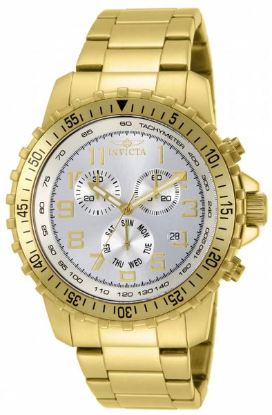 Invicta Men's 11369 Specialty Quartz Chronograph Silver Dial Watch