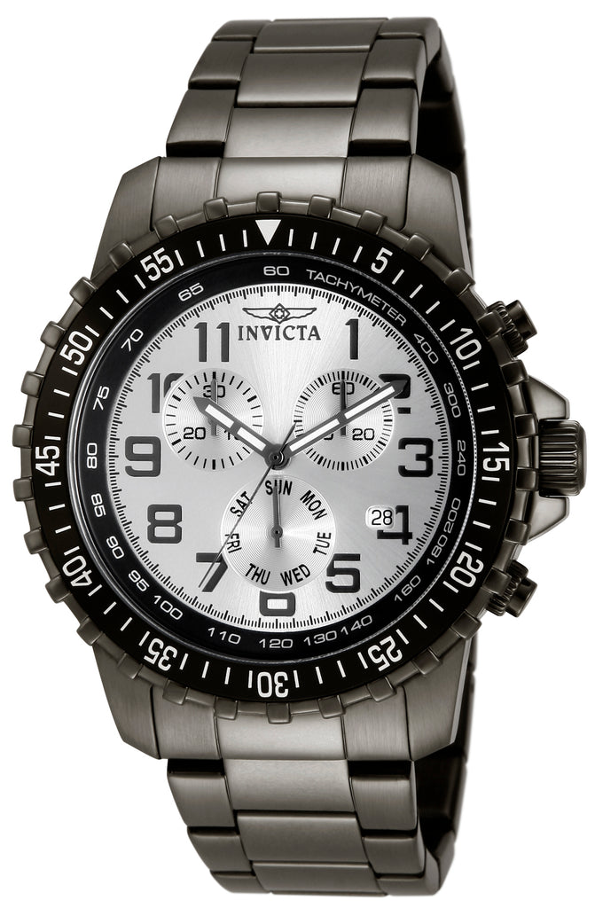 Invicta Men's 11370 Specialty Quartz Chronograph Silver Dial Watch