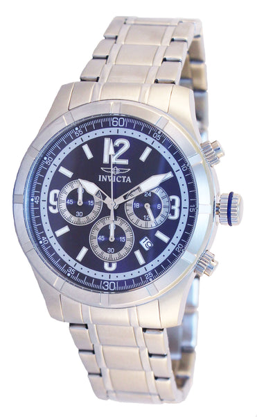 Invicta Men's 11372 Specialty Quartz Chronograph Blue Dial Watch