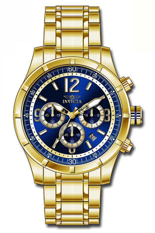 Invicta Men's 11375 Specialty Quartz Chronograph Blue Dial Watch